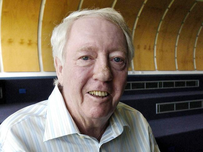Stigwood pictured at his old school, Adelaide's Sacred Heart College, in 2004. A Music and Performance Centre at the school is named in his honour. Picture: Brenton Edwards