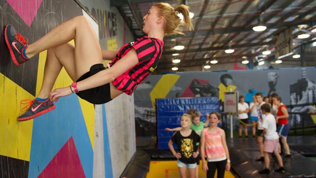 Teens Get Some Serious Air At Bounce