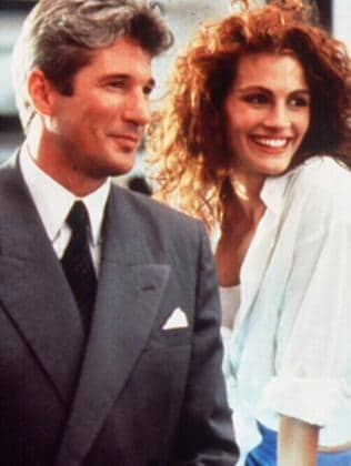 Richard Gere with Julia Roberts in scene from Pretty Woman. Picture: Supplied