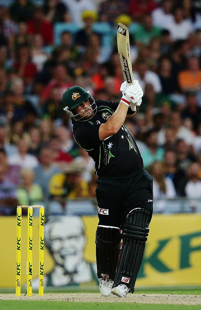 Aaron Finch picked up a solid 44 runs. Picture: Brett Costello.