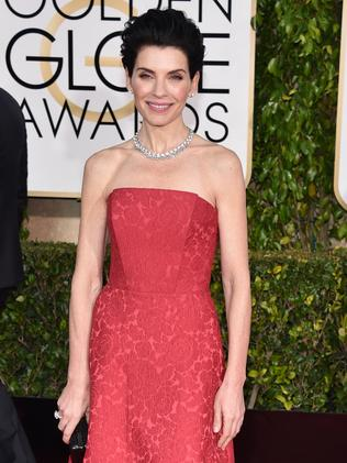 Pretty in pink ... The Good Wife star Julianna Margulies. Picture: AP