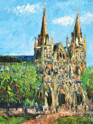 Pro Hart's painting of St Peter's Cathedral is considered one of his 'most significant' works.