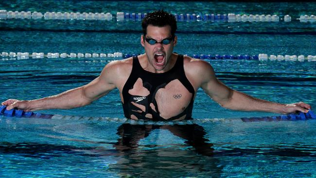 Sprenger is the oldest athlete on the Australian swim team.