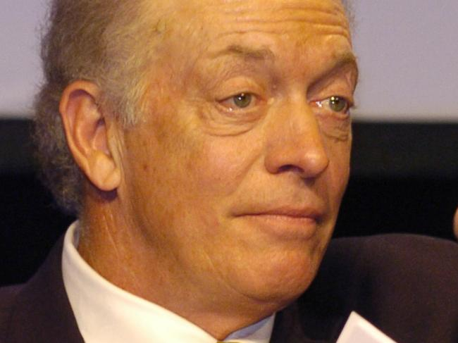 Dick Stockton at the International Press Conference at the Super Bowl XL Media Center in the General Motors Building in Detroit, Michigan on February 3, 2006. (Photo by Al Messerschmidt/Getty Images)