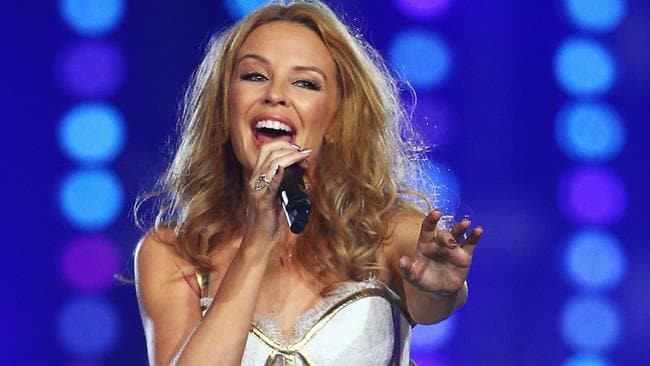 I should be so lucky. Kylie Minogue has scored another lucrative gig, performing at a Qatar Airway's event in Sydney Picture: Cameron Spencer/Getty Images