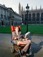 Dr Stephen Hawking Physics professor and author at Cambridge University. 1st September 1988. Picture: Getty Images