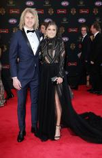 2017 AFL Brownlow Medal Count at Crown Palladium. Dyson Heppell, Kate Turner. Pic: Michael Klein