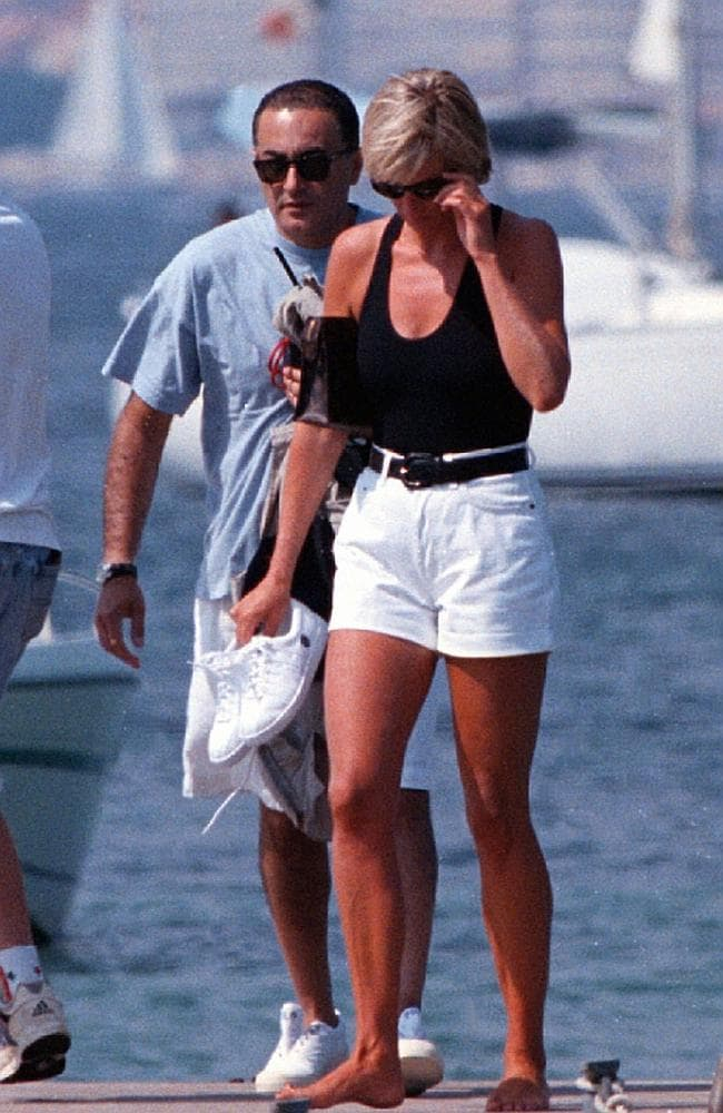 Diana, Princess of Wales with Dodi Fayed in 1997.