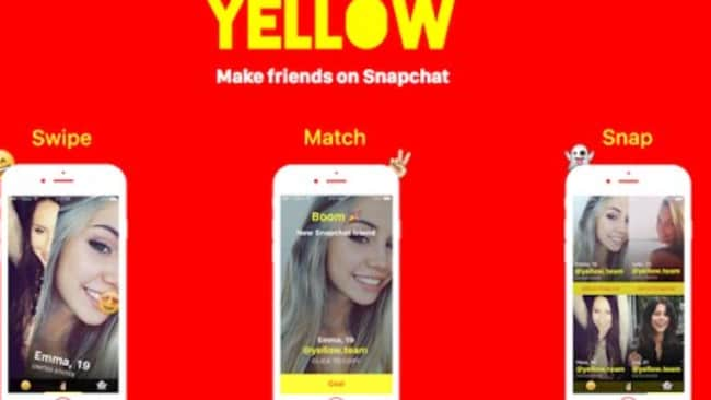 Yellow is for people who want to 'make friends on Snapchat', but experts are warning teenagers to stay off it. Picture: Yellow/App store
