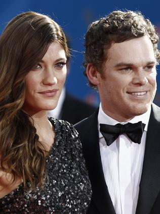 Co-stars ... Michael C Hall and Jennifer Carpenter eloped on New Year's Eve in 2008. Picture: AP Photo/Matt Sayles