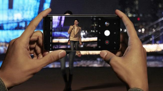 Samsung's Galaxy S9 smartphone features a camera designed for better photographs in low light. Picture: Supplied