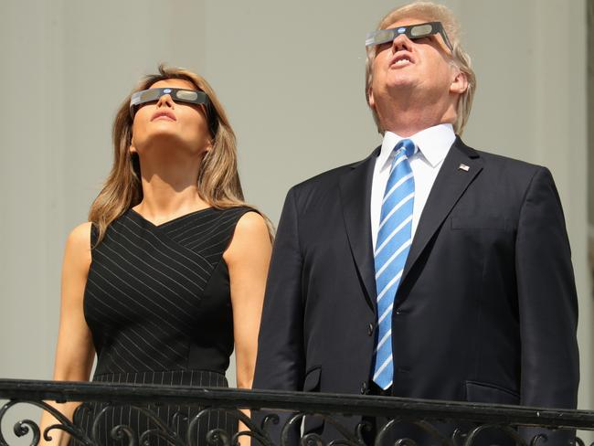 He switched to protective glasses. Picture: AP
