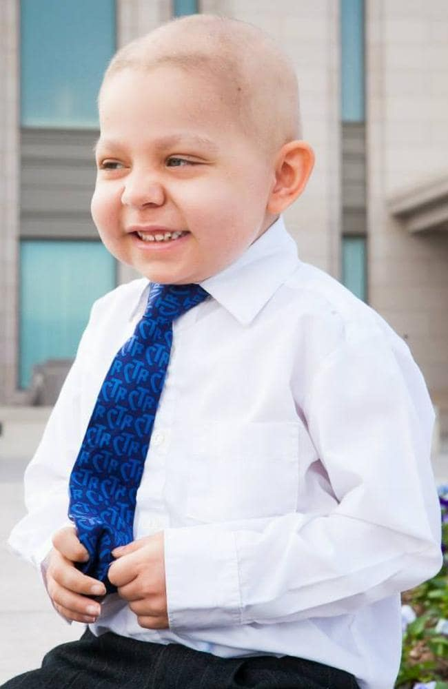 Brought a community into action ... Four-year-old Ethan Van leuven has terminal acute lymphoblastic leukaemia. Picture; Fundraiser for Ethan VanLeuven