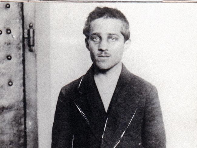 Assassin ... an undated picture acquired from the Historical Archives of Sarajevo shows Bosnian-Serb Gavrilo Princip in his prison cell at the Terezín fortress after his arrest.