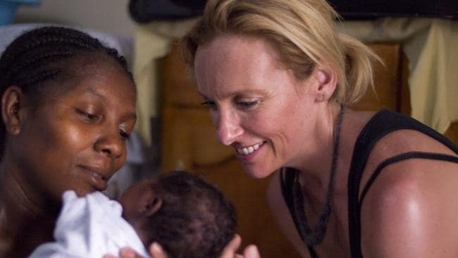 Toni Collette in Haiti in her role as Concern global ambassador