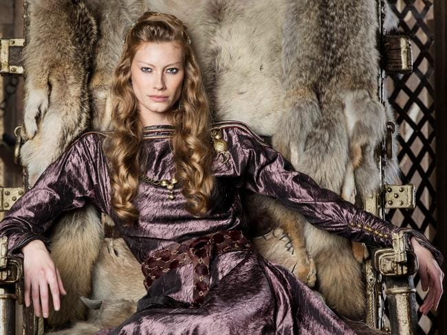 The new series of Vikings, starring Aussie Alyssa Sutherland, has just kicked off in America. Picture: Supplied