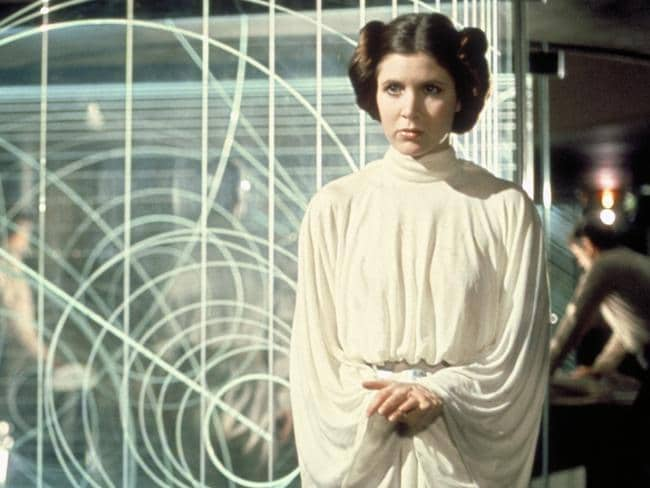 Princess Leia's white dress from Episode IV> Picture: Lucasfilm Ltd