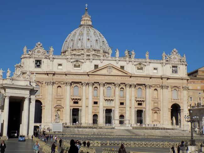 Reaching the front of the queue is pilgrimage St Peter's Basilica.