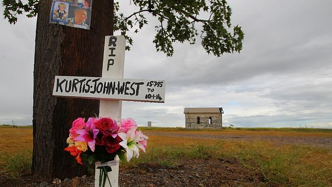 The site next to the railway crossing where Kurtis West died. Pic: Jack Tran