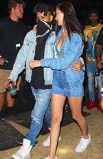The Weeknd and supermodel girlfriend Bella Hadid were spotted at the desert festival showing some serious PDA. Picture: BackGrid