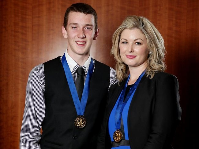 Pride of Australia recopients Ryan Miller and Vanessa Robinson. Picture: Sam Ruttyn