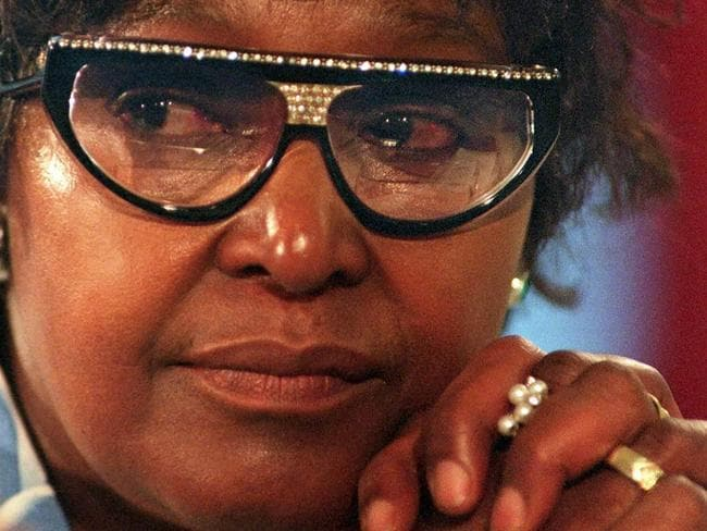 Winnie in 1997 at a Truth and Reconciliation Commission (TRC) hearing in Johannesburg. Picture: AFP PHOTO / ODD ANDERSEN