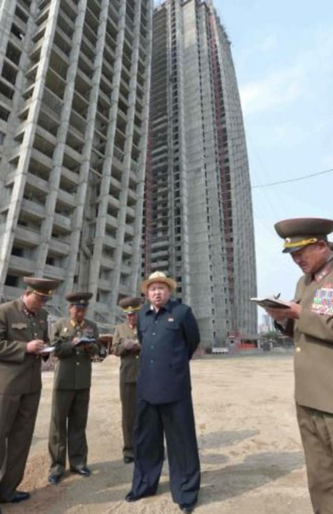 Kim Jong Un has reportedly insisted on the strict deadlines in an effort to boost North Korea's image. Picture: KCNA