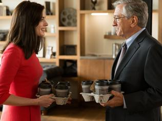 Anne Hathaway and Robert De Niro in a scene from the film The Intern. Roadshow Pictures