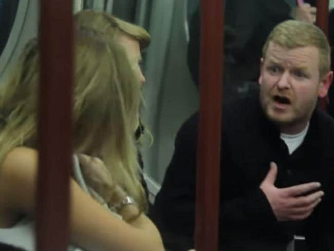 Furious ... passengers were shocked to see a man abusing a breastfeeding mum. Picture: Trollstation