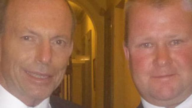 Jack Lyons with Prime Minister Tony Abbott. Picture: Facebook.