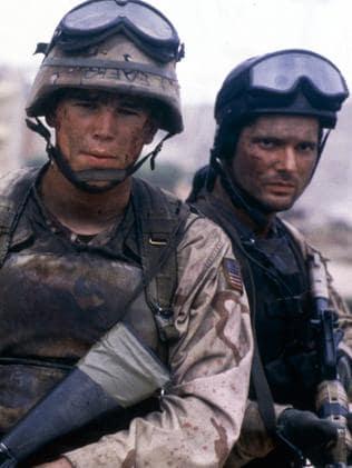 Josh Hartnett and Bana in  <i>Black Hawk Down</i>.