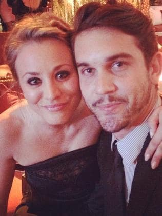 Kaley Cuoco and Ryan Sweeting at the Emmys. Picture: Instagram