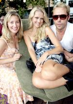 <p>Sybilla Bud, Teresa Palmer & Marcus Graham, Judges for the Optus One80 Project Festival in Harmony Park, Surry Hills. Pic. Jeff Herbert.</p>