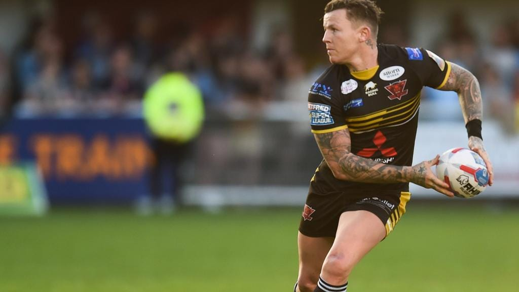 Todd Carney of Salford during the Betfred Super League match between Catalans Dragons and Salford Red Devils on April 17, 2017 in Perpignan, France. (Photo by Alexandre Dimou/Icon Sport)