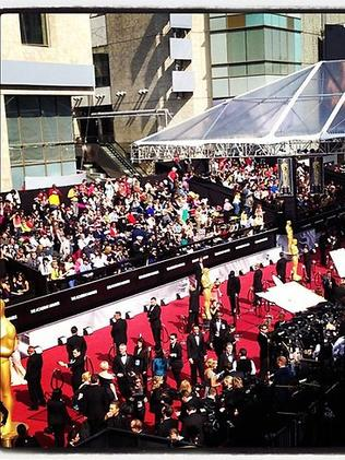 """@kellyosbourne: """"The red carpet is officially open let the madness begin! #eredcarpet #oscars"""". Picture: Instagram"""
