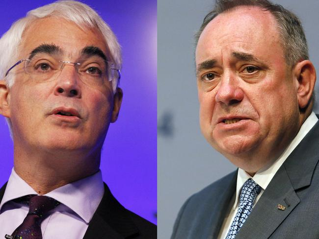 Alistair Darling and Alex Salmond debated the issue on live television this week. Pic: AP.
