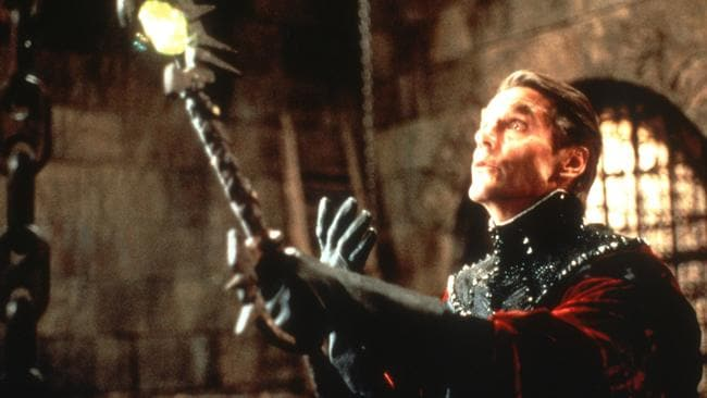 Jeremy Irons in the rather forgettable movie, Dungeons and Dragons.