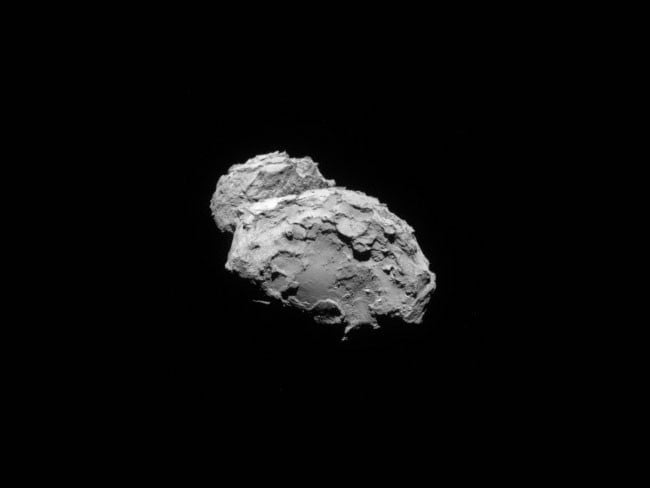 Target in sight ... Rosetta took this photo of 67P/Churyumov-Gerasimenko from a distance of 234 kilometres on August 4, two days before its attempt to enter orbit. Picture: ESA