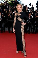 Anja Rubik attends the premiere of 'La Giovinezza' during the 2015 Cannes Film Festival. Picture: Getty