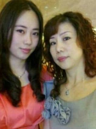 Michelle Leng and her mother Mei Zhang.