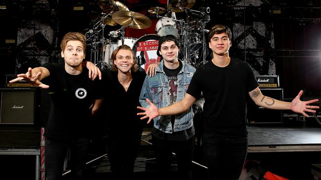 World beaters? ... 5SOS launch their campaign for world domination with new single She's Kinda Hot. Picture: Tim Hunter.