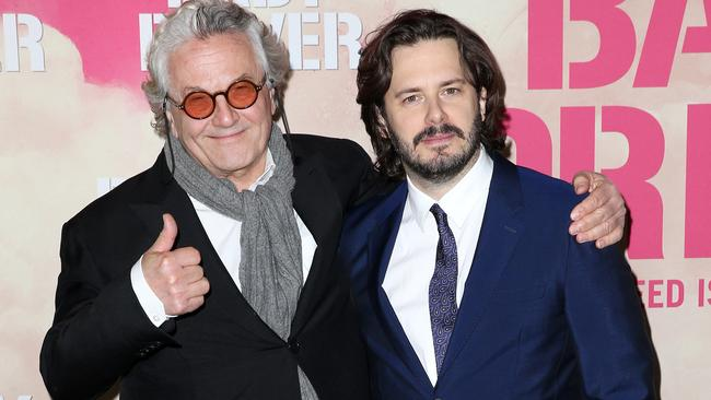 George Miller and Edgar Wright at the Australian Premiere of Baby Driver. Picture: Christian Gilles