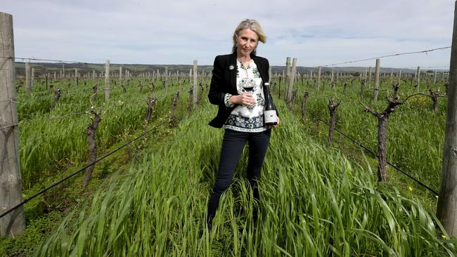Mary Hamilton, CEO of Hugh Hamilton Wines which is celebrating 180 years in the business, making them the oldest wine family in Australia. Picture: Kelly Barnes.
