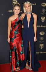 Emma Freedman and Women's NRL player Allana Ferguson at the 2017 Dally M Awards held at The Star in Pyrmont. Picture: Christian Gilles