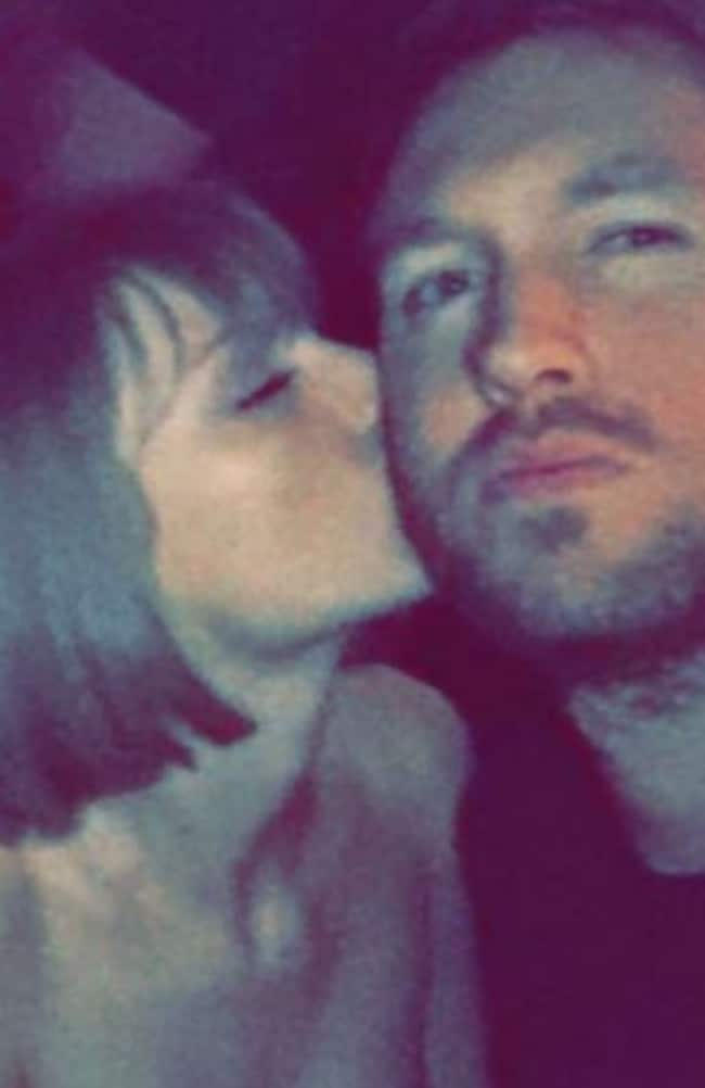 Reunited... Taylor Swift and Calvin Harris cuddle up at an after party. Picture: Snapchat