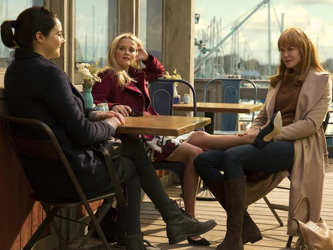 Shailene Woodley, Reese Witherspoon and Nicole Kidman in Big Little Lies.