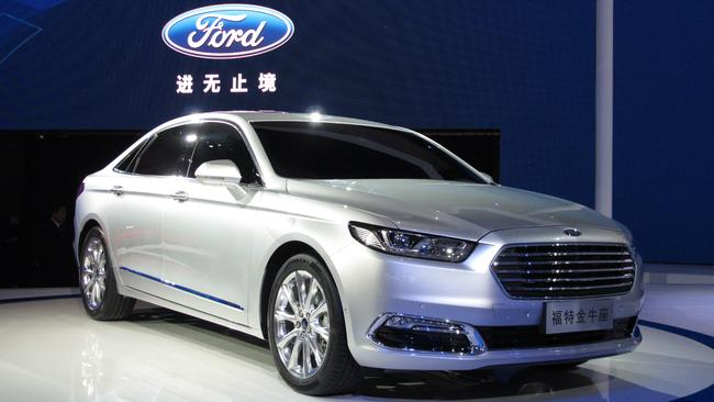Chinese Falcon ... the Australian-designed Ford Taurus sedan at the Shanghai motor show in April. Picture: Supplied
