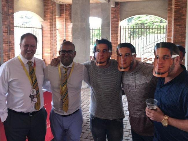 CSA officials were snapped posing with fans wearing Williams masks.
