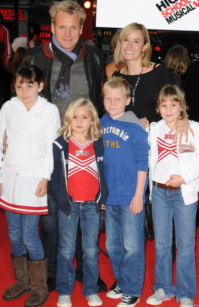 Gordon Ramsay and wife Tana with their children in 2008.