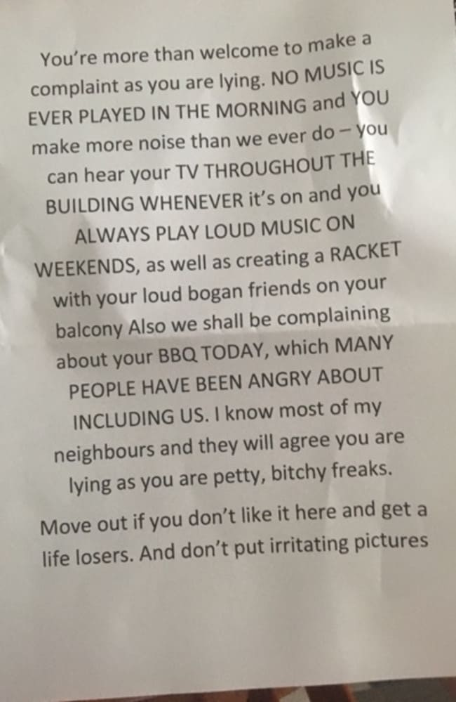 """""""Loud bogan friends"""" and """"petty bitchy freaks"""" ... things are heating up. Picture: Supplied"""